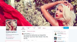 Aguilera su Twitter