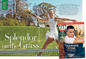 Splendida sul campo da tennis...